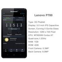 Precio de Lenovo p780-5.0 '' original de <b>Lenovo P780</b> Android 4.2 Smartphone MTK6589 de cuatro núcleos a 1,2 GHz 1 GB de RAM + 4GB ROM Dual SIM WCDMAGSM 4000mAh 1280x720
