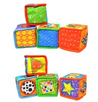 Wholesale set pieces set animals figure colorful baby cloth building blocks Soft Play Cubes early educational