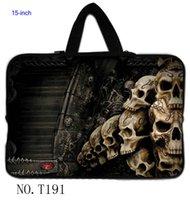 Wholesale Classic Skull Cute quot Inch quot quot quot Laptop Netbook Neoprene Sleeve Bag Case handle