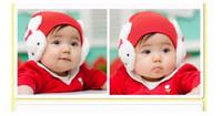 Boy Winter Newborn Hat 10PCS Crochet Hats Rabbit Baby Caps Santa Christmas Children's Gifts Protect Ears Knitting Fedora children's hat