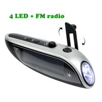 solar flashlight radio phone charger - Streamline Crank Dynamo Solar Emergency Flashlight FM Radio Receiver with Phone Charger for Outdoor Traveling Y4293D