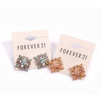asos earrings - European and American trade of the original single full diamond jewelry ASOS HM gold pierced earring Gemstone Beads mash