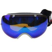class a bags - Top class Double lens anti fog UV protective ski goggles winter revo coating snow goggles w a hard case fabric bag
