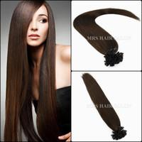 best hair glue - 20 Inches Nail tip hair extensions Human U Tip hair Extensions Use Best Ital keratin glue For Fusion hair keratin extensions