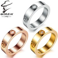 Wholesale Titanium steel ring rose gold ring silver wedding ring love ring screwdriver fashion jewelry ring for women