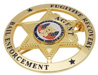 bail enforcement - US FUGITIVE RECOVERY AGENT BAIL ENFORCEMENT METAL BADGE