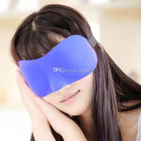 Wholesale 1Lot Hot Sale D Portable Soft Travel Sleep Rest Aid Eye Sleep Mask Cover Eye Patch Sleeping Mask Case Mix Colors