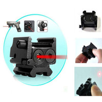 Wholesale New Hot With Detachable Picatinny Rail Black Compact nm Red Laser Gun Sight L0444 W0 SYSR