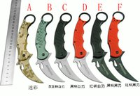 fox boxes - 6style Fox karambit claw Folding knife C steel Blade HRC Tactical knife camping knife knives Original box fastest way to transport