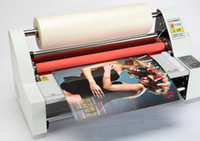 Wholesale NEW quot V350 Laminator Four Rollers Hot Roll Laminating Machine electronic temperature control single and sided a heating mode