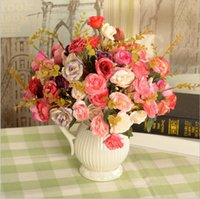 Wholesale Artificial flowers high quality Persian rose wreath party decoration real touch roses colors rose balls weddings wreath free ship