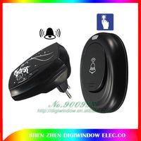 Wholesale Eu Plug Led m Range Remote Control Digital Waterproof v Ac Wireless Doorbell Door Bell Cord Music Tunes Melody Home