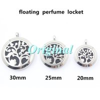 magnetic pendant - hollow out quot family tree quot L stainless steel floating locket magnetic essential oils diffuser locket sizes