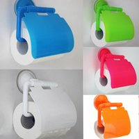 Wholesale Toilet Bathroom Wall Mounted Convenient Roll Paper Holder Fashion Tissue Cover Storage Box Accessory