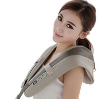 Wholesale 2 in1 Massage Neck Shoulder Cervical Vertebrae Full Body Vibrating Massager Back Brace Pain Lower Lumbar Support