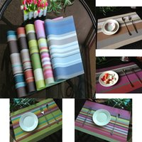 Wholesale Anti slip PVC Insulation Pad Kitchen ECO Friendly Mats Continental Food Quality Creative Placemats Heat Resistant DC