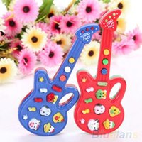 battery operated guitar - Electronic Guitar Toy Nursery Rhyme Music Children Baby Kids Toy Gift QE1 C