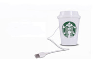 Wholesale USB Portable ABS Starbucks Cup Mini Humidifier Purifier DC V Office Home Air Diffuser Aroma Mist Maker