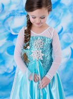 Wholesale IN STOCK Frozen fashion and beautiful dress Elsa Princess Dress foreign trade Girls skirt
