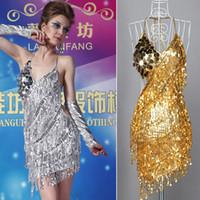 ballroom dresses - Grace Karin Sexy Lady Cocktail Party Latin Dance Ballroom Halter Sequin Dress Size CL7267