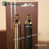 Cheap Wholesale-10pc lot Variable Voltage ecig kit Electronic cigarette kits ego V V3 ecig kit ego v v3 e cigarette(10*ego-v v3)