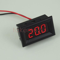 Wholesale Mini Two Wires Digital Voltmeter Red LED Display DC2 V Voltage Meter KK Y