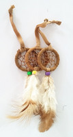 Wholesale 18 OFF Free EMS DHL hot sale dream catcher Small mini Dreamcatcher Christmas decorations Birthday gifts ZM