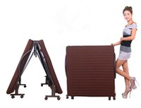 Wholesale Foldable Single Bed With Brown Mattress cm Buying Foldable Bed Brown Color Mattress