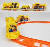 baby train sets - New Despicable Me Minions Minion Figure Electric Train Track Baby Toy Kids Child Christmas Festival Gift