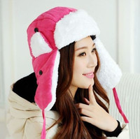 aviator gold - new women winter hat with earflaps ski bomber Hat Outdoor snow ear flaps cap aviator hat