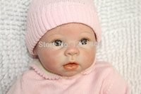 Wholesale Inches Silicone Reborn Baby Doll For Boys Toys Safe Hobbies Real Life Baby Dolls Brown Eyes Special Toys