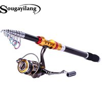 Wholesale Fishing Rod M Carbon Fiber Telescopic Fishing Pole Rod With Full Metal Reel Set Fishing Tackle Combo Pesca