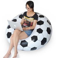 adult bean bag chair - New Inflatable Sofa Adult Football Self Bean Bag Chair Portable Outdoor Garden Corner Sofa Living Room Furniture JF0002 Salebags