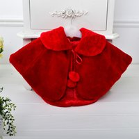 Wholesale 5 Color Optional Children Girls MINI Jackets Formal Dress Cappa Fur Tippet For Girl Accessories To Girl s Party Gowns Y