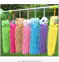 Wholesale 8 colors Cute Cartoon Hung Chenille Coral Polyps Wipes Multi purpose Clean Kitchen Towel the Hand Car Decoration S000130