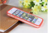 Pour l'iphone 6 Étui transparent transparent souple de couverture de gel de PC + TPU d'Iphone 6 plus pour l'iphone 5 5S 4S Étui pour pare-chocs de la galaxie S6 S5 S4 4 4