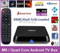 Wholesale 5pcs Original M8 TV Box GB GB XBMC Kodi Fully Loaded Android Amlogic S812 Quad Core TV Box Dual WiFi YOUTUBE