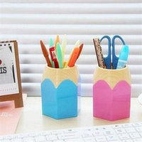 Wholesale 2015 New Luxury Pen Vase Pencil Pot Brush Pen Holders Stationery Container Desk Tidy