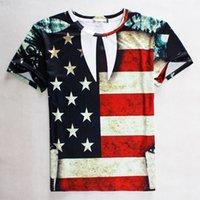 american flag tees for women - Spring summer new American flag printed t shirts men s fashion tops tees short sleeve t shirt for men women