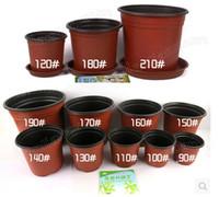 Wholesale 30pcs D garden supplies flower pots unbreakable thin plastic flowerpot full of creative flower pot nursery pots