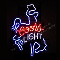 Wholesale COORS LIGHT Brand NEON SIGN avize texas longhorn neon sign nets jersey neon Beer Bar Pub Display outdoor sign light X14in