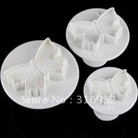 Wholesale D3 plunger cutter Cake Decoration cake print mold cake tools toast print mold Butterfly Plunger Cutter SET