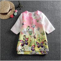 clothing children - 2015 Spring High Quality Clothes Sets Girl Fashion Printed Clothing Kids Coat Vest Dress Children Jacket Outfits Clothes Set G79E1