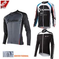 Wholesale Cycling men s cube jackest winter thermal fleece hombre sportwear mountain bike jackets invierno abbigliamento ciclismo