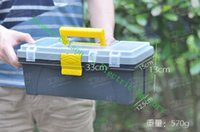 Wholesale Home Hardware plastic toolbox inches Toolbox with free lock keyhole automobile