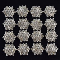 Wholesale 50pcs Clear Crystal Rhinestone Acrylic Rhinestone Buttons For Embellishment Hair Garment Accessories PJ49