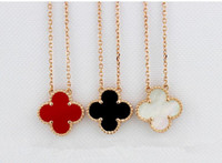 Wholesale 2015 the French best selling brand VCA clovers clavicle necklace female k gold necklace