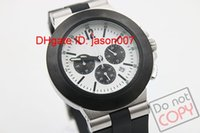 band sapphire - luxury Men s Chronograph Watches Grey Case Diagono Chrono chronograph working Sapphire Crystal Rubber Bands Sport Men s Watches