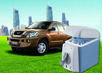 Wholesale 7 l car small refrigerator v car with household voltage transformer voltage V V multi purpose mini car refrigerator hot and col