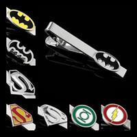 Wholesale Tie Clip Clasp Bar Personalized Engravable Batman Superman Green Lantern The Flash Action Superhero Justice League DC Comics Men s